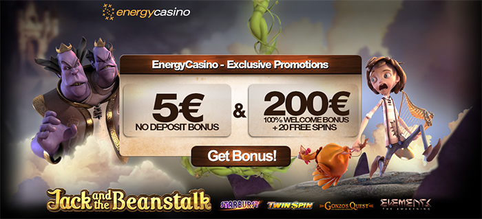 Energy Casino geen storting bonus