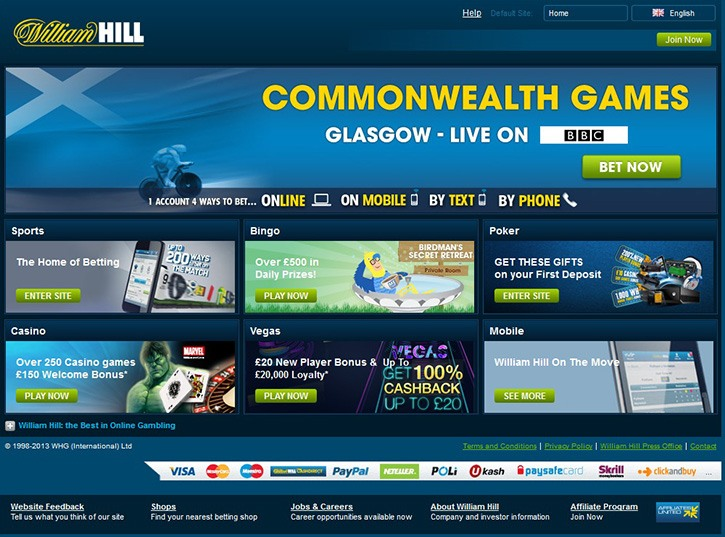 William Hill printscreen